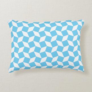 Light Blue Op Art Pattern Accent Pillow