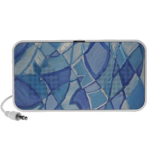 Light Blue Original Abstract Artwork Kara Willis Mp3 Speakers