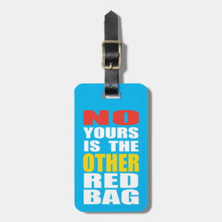 Light Blue Other Red Bag Luggage Tag Tag For Bags
