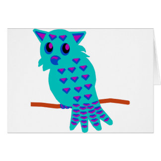Light Blue Owl Card