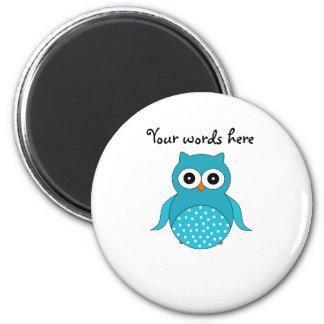 Light blue owl magnet