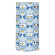Light Blue Owls Flameless Candle