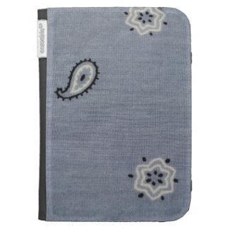 Light Blue Paisley Caseable Kindle Folio Kindle Keyboard Covers