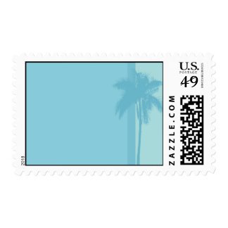 Light Blue Palm Trees Stamps