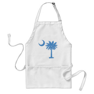 Light Blue Palmetto Adult Apron