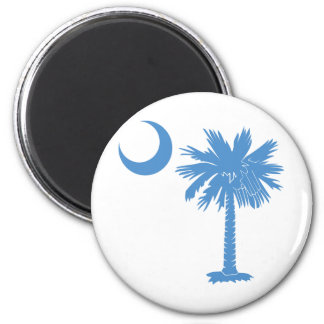 Light Blue Palmetto Fridge Magnets