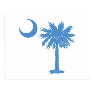 Light Blue Palmetto Postcard