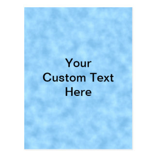 Light Blue Pattern with Custom Black Text. Postcard