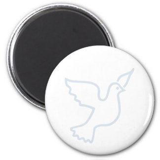 Light Blue Peace Dove 2 Inch Round Magnet