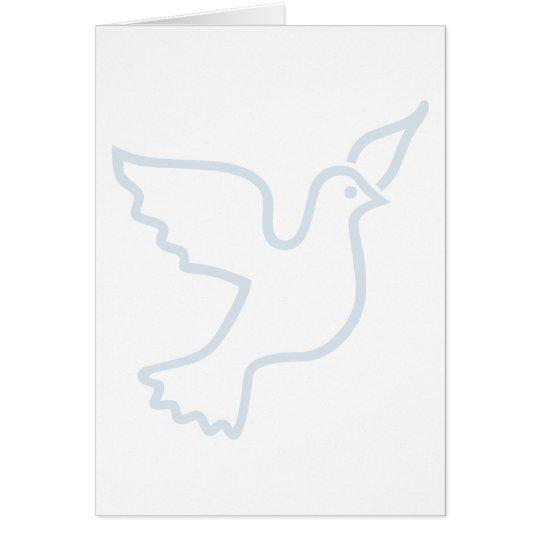 Light Blue Peace Dove Card