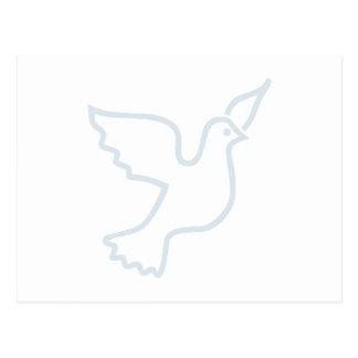 Light Blue Peace Dove Postcard
