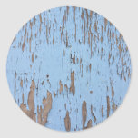 Light Blue Peeling Paint Sticker