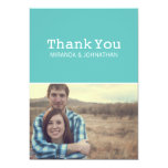Light Blue Photo Wedding Thank You Cards