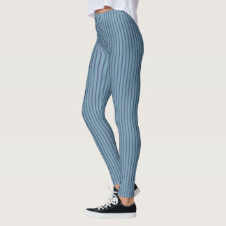 Light Blue Pin Stripe Leggings