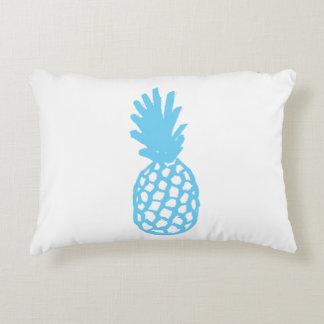 Light Blue Pineapple Accent Pillow