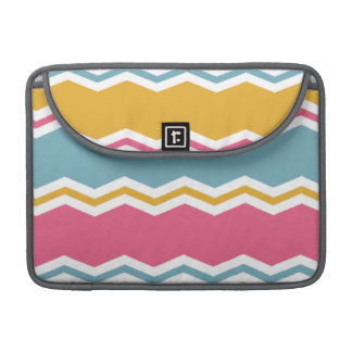 Light Blue, Pink, and Gold Chevron Stripes Sleeve For MacBooks