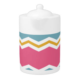 Light Blue, Pink, and Gold Chevron Stripes