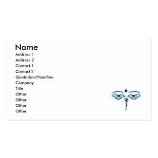 Light blue Pink Buddha Eyes.png Business Card