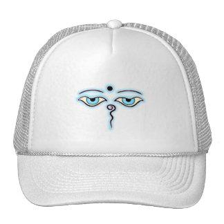 Light blue Pink Buddha Eyes.png Trucker Hat