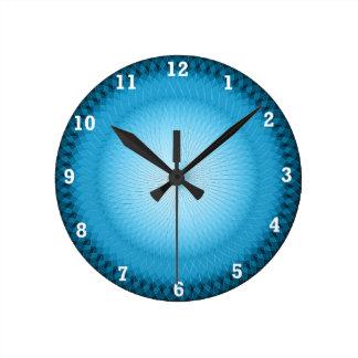 Light Blue Plafond Round Clock