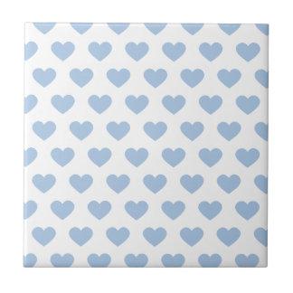 Light Blue Polka Dot Hearts Tile