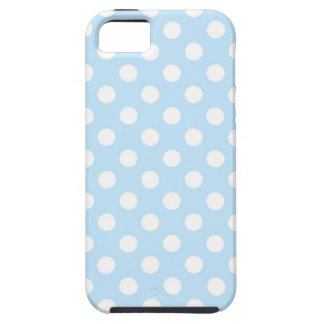 Light Blue Polka Dot iPhone SE/5/5s Case