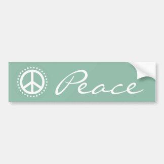 Light Blue Polka Dot Peace Sign Bumper Sticker