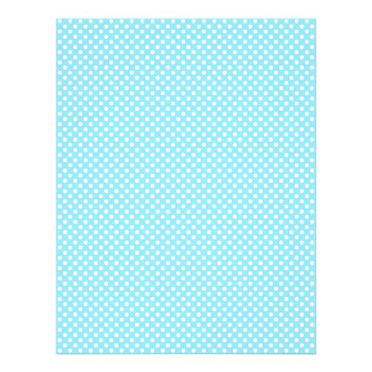Light Blue Polka Dot Scrapbook Paper