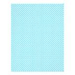 Light Blue Polka Dot Scrapbook Paper Letterhead
