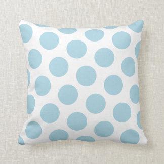 Light Blue Polka Dot Throw Pillow