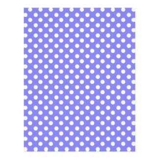 """Light blue polka dots 8.5"""" x 11"""" flyer"""