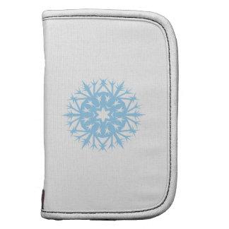 Light Blue Prickly Snowflake Planner
