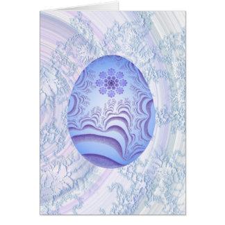 Light Blue & Purple Painted Egg Card