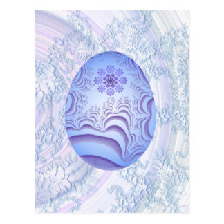 Light Blue & Purple Painted Egg Postcard