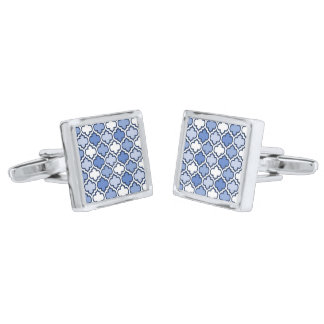 Light Blue Quatrefoil Pattern Cufflinks