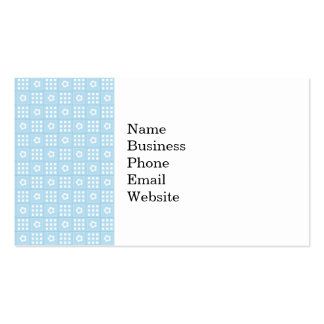Light Blue Quilt Squares Flowers and Squares Patte Double-Sided Standard Business Cards (Pack Of 100)