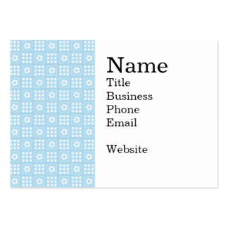 Light Blue Quilt Squares Flowers and Squares Patte Large Business Cards (Pack Of 100)