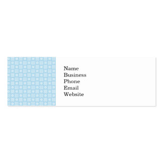 Light Blue Quilt Squares Flowers and Squares Patte Double-Sided Mini Business Cards (Pack Of 20)