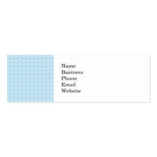 Light Blue Quilt Squares Flowers and Squares Patte Mini Business Card