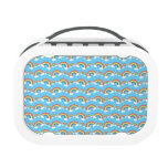 Light blue rainbow pattern lunchboxes