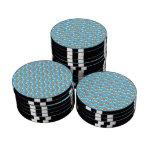 Light blue rainbow pattern poker chips