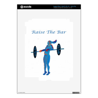 Light Blue Raise The Bar t-shirt and accessories iPad 3 Decal