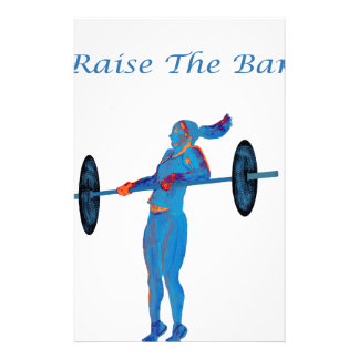 Light Blue Raise The Bar t-shirt and accessories Stationery