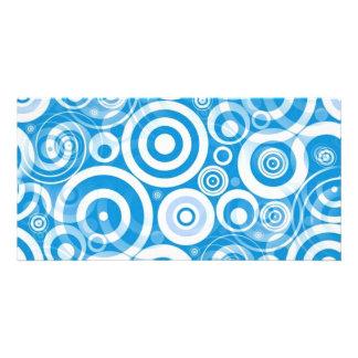light_blue_retro_circles photo card