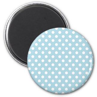 Light Blue Retro Polka Dots Pattern Magnet