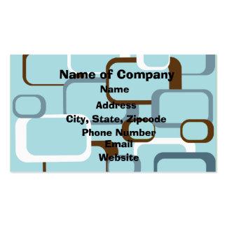 Light Blue Retro Squares Business Card