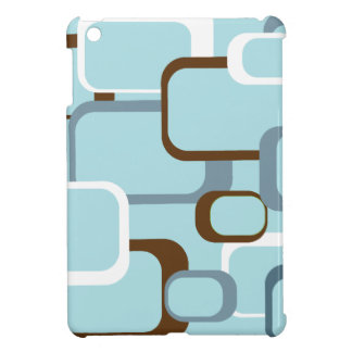 Light Blue Retro Squares Case For The iPad Mini