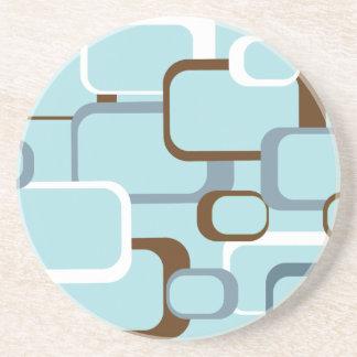 Light Blue Retro Squares Coaster