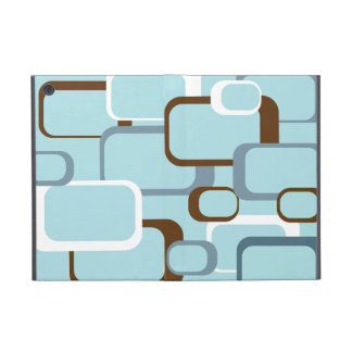 Light Blue Retro Squares iPad Mini Case