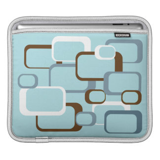 Light Blue Retro Squares iPad Sleeves
